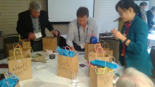 Rotarians in District 7070 package bags (2)