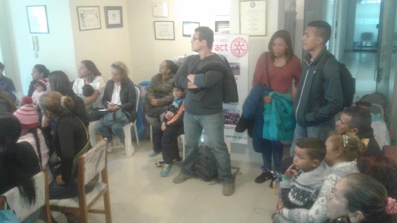 Venezuela refugees in Peru Rotary Club Inkas Cusco