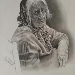© Artist: Afsoon Sabzevari - Endless Anticipation (Pencil on Paper)
