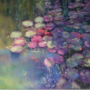 © Artist: Jo-anne Seberry - Waterlilies (Pastel on Paper)