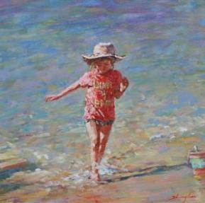 © Artist: Zhonghua Fan - Cool Feet (Oil on Canvas)